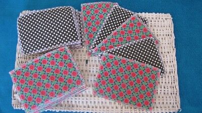 lot de 20 Lingettes Lavables Rectangle Fille  fait main 10,5X15cm