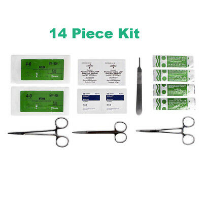Surgical Suture Kit - Basic First Aid Set Suture Emergency Trauma Survival Pack