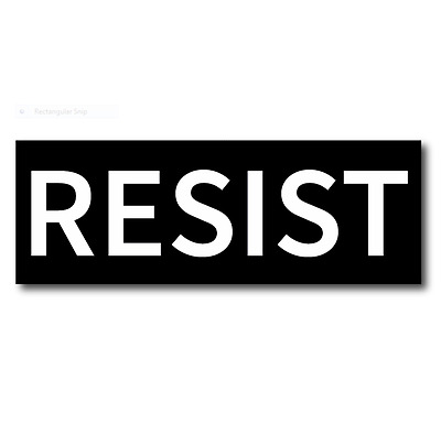 5 RESIST - Anti Donald Trump No Trump Dump Trump Bumper Stickers - FREE SHIP!