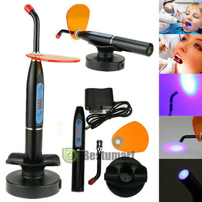 Dentist Dental LED Curing Light Lamp Wireless Cordless Resin Cure 10W 2000MW USA