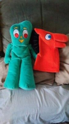 Gumby and Pokey plush puppets