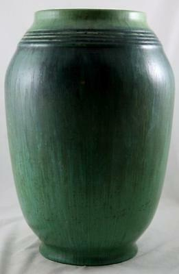 "Roseville Artcraft/imperial Ii 16.5"" Vase 744-16 In Blue/green Striated Glazes"