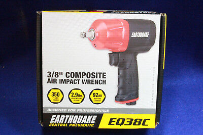 "Central Pneumatic EarthQuake 3/8"" Composite Air Impact Wrench EQ38C"