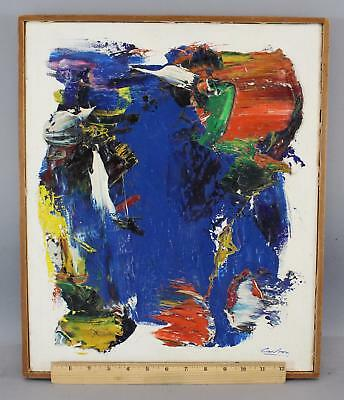 1958 Vintage NORMAN CARTON Abstract Expressionist Mid-Century Oil Painting, NR