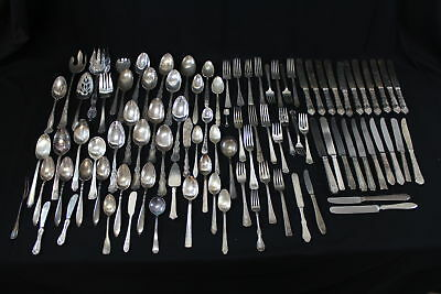 10 lbs Assorted Vintage Silver Plated Flatware Lot (690)