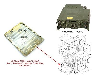 SINCGARS RT-1523, C-11561 Radio Receiver-Transmitter Cover Plate A3018561-1