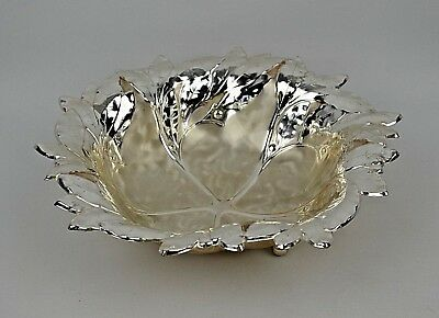 Vintage WMF Ikora Silver Plated Leaf Candy / Serving Dish Made in Germany  6502