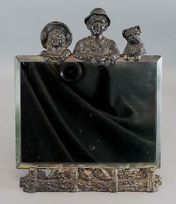 Early 20thC Rogers Silverplate Co, Arts & Crafts, Tom Sawyer, Mirror  Frame NR