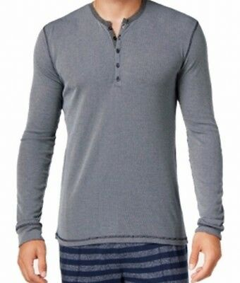 Kenneth Cole Reaction NEW Blue Mens Size Large L Pinstriped Nightshirt $39 #308