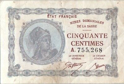 Saarland 50 Centimes National Mines of Sarre - Type 1920 A.755.268