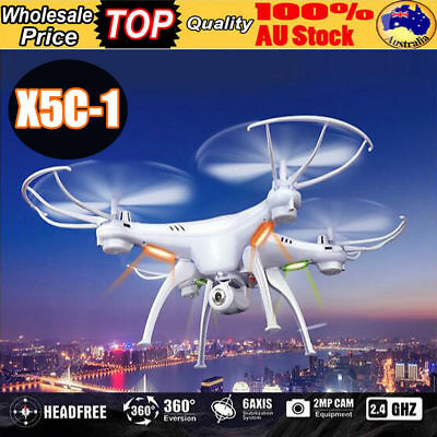 X5C 2.4G 6-Axes Gyro RC Aircraft Quadcopter Drone UAV RTF With 2MP Camera au