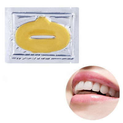 LIP MASKS GOLD CRYSTAL COLLAGEN PATCH ANTI AGEING WRINKLE MOISTURISING 5pcs
