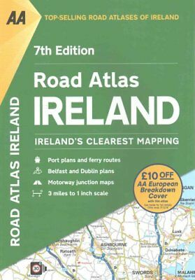 AA Road Atlas Ireland 9780749578435 (Paperback, 2016)
