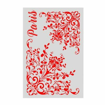 Layering Stencils Template Embossing Stamp Walls Painting Scrapbooking DIY Craft