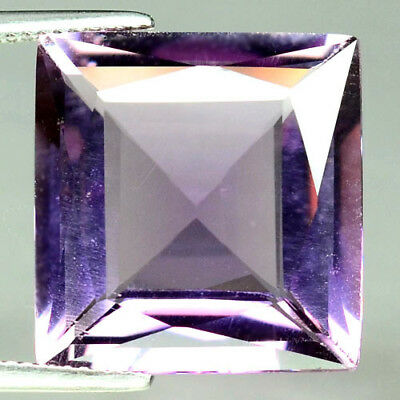 19.16 Ct Aaa! Natural! Purple Clr Change To Pink Brazilian Amethyst Square