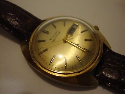 Bulova Accutron VINTAGE Watch N5 10k Rolled Gold Plate Back Parts/Repair