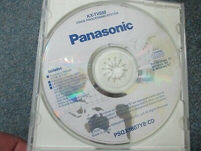 Panasonic KX-TVS50 Voice Processing Sys Product Documentation CD PSQX1807YB-CD
