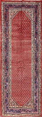 Vintage All-Over Pattern Geometric Runner 4x11 Botemir Bote Persian Oriental Rug