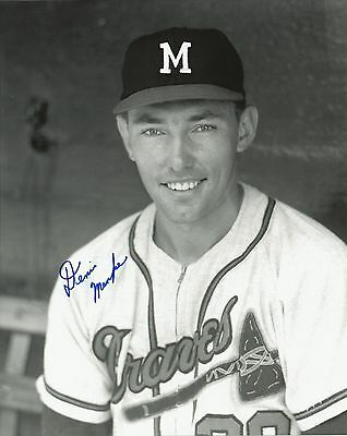 Denis Menke 1962-1965 Milwaukee Braves Autographed Signed 8x10 Photo COA