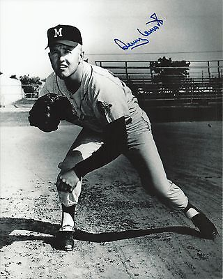 Denny Lemaster 1962-1965 Milwaukee Braves Signed Autographed 8x10 Photo  COA