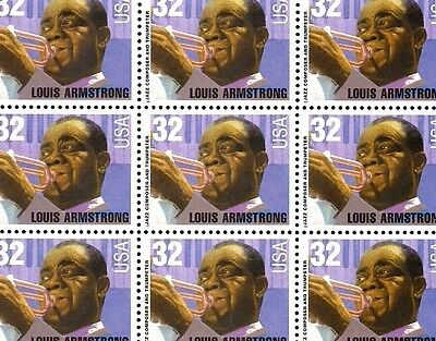 1995 - LOUIS ARMSTRONG - #2982 Full Mint -MNH- Sheet of 20 Postage Stamps