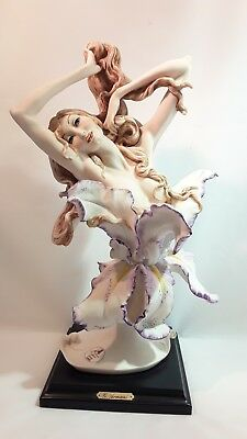 ARMANI AWAKING 1990 MEMBERS ONLY 591c SCULPTURE NUDE LADY Long Hair ORCHID