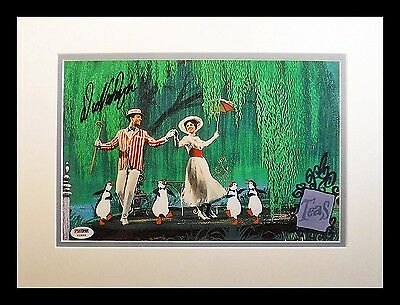 Dick Van Dyke Mary Poppins Penguin signed 8x12 Jolly Holiday Frame PSA DNA