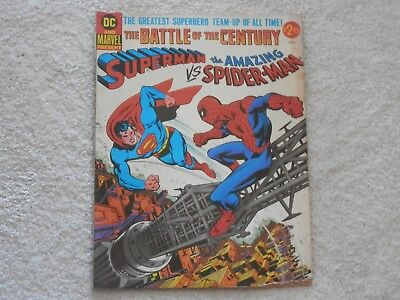 Superman vs Spider-Man  DC/Marvel 1976  Battle of the Century large size
