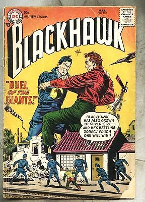 Blackhawk #110-1957 gd+ Dick Dillin Charles Cuidera 3rd DC Issue