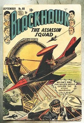 Blackhawk #68-1953 gd+/gd The Assassin Squad Dick Dillin