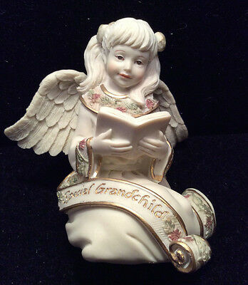 """NEW """"Special Grandchild"""" Cast Resin Angel from Sarah's Angels"""