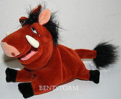 "NEW Disney Store EXCLUSIVE Lion King Movie 8"" Pumbaa Wart Hog Bean Bag plush"