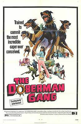 THE DOBERMAN GANG original 1972 27x41 one sheet movie poster