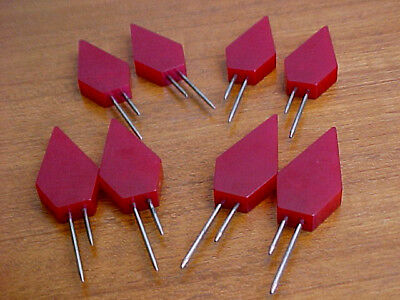 CORN HOLDERS RED BAKELITE, 4 SETS, AUTHENTIC ART DECO, GEOMETRIC, As Found