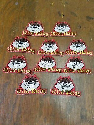 Lot of 10 Tasmanian Devil TAZ Wild Thing  Iron On Embroidrered Patches