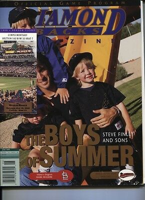 1999 Arizona Diamonbacks Vs Atlanta Braves Program W/tix -Nm