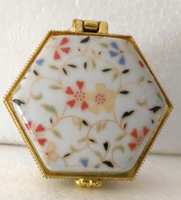 Don't miss it Porcelain jewelry box painted nice spring flowers Christmas gifts