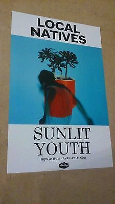 POSTER Lot by LOCAL NATIVES sunlit youth For the bands new tour album cd sun lit