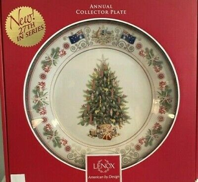 LENOX 2017 TREES AROUND THE WORLD PLATE NEW in BOX 1st QUALITY made in USA 27th