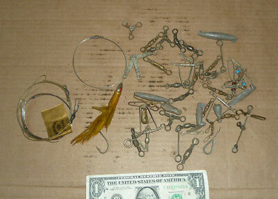 Vintage Fish,Fishing Swivels,Connects,Sinker,Hardware,Old Type Gear,Mostly Brass