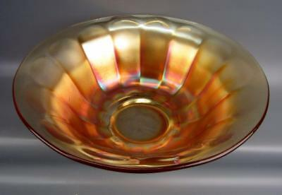 "Carnival Glass - Imperial WIDE PANEL Large Marigold 11"" Flared Salad Bowl 0679EP"