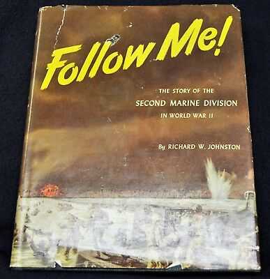 "Vintage 1948 Book ""Follow Me"" The Story Of Second Marine Division In WWII"