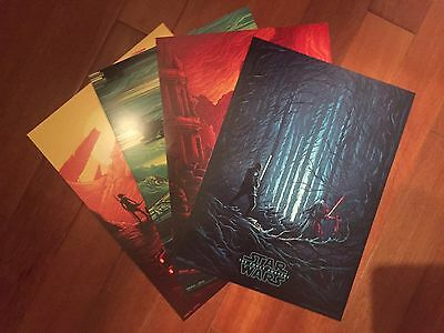 Star Wars The Force Awakens   AMC IMAX exclusive poster SET All 4
