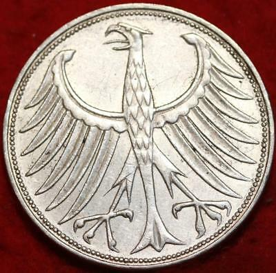 1969 Germany 5 Mark Silver Foreign Coin