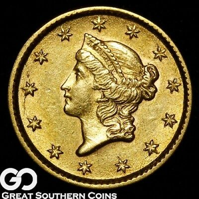 1853 Gold Dollar, $1 Gold Liberty, Type 1, Choice BU++