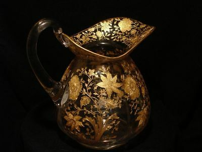 Cambridge Wildflower Gold Encrusted Doulton Pitcher