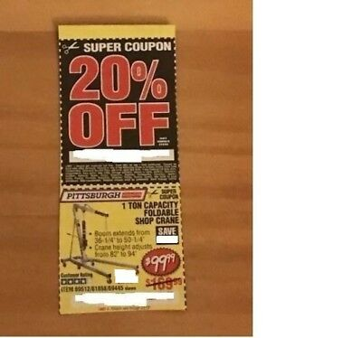 Harbor Freight SUPER COUPON for a 1 Ton Capacity Foldable Shop Crane & 20% OFF
