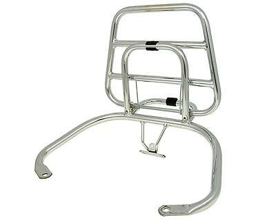 Luggage Carrier Rear Holder Chrome For Top Case Vespa Piaggio Lx Lxv 50 - 125