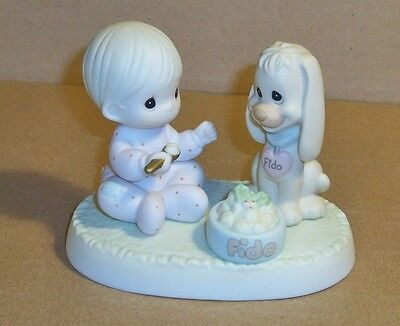 """Precious Moments Porcelain Figurine, """"Sharing Our Christmas Together"""". 1997"""