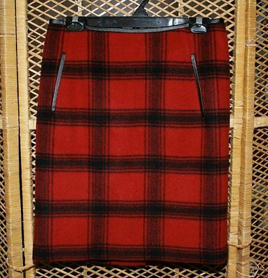 Talbot red checkered wool skirt size 6